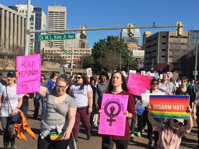 Memphis Women's March Sees Thousands Step Out in Solidarity