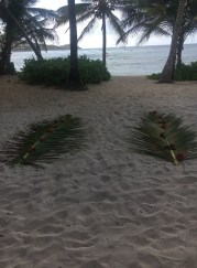 Remnants of a seaside wedding at The Palms of Pelican Cove