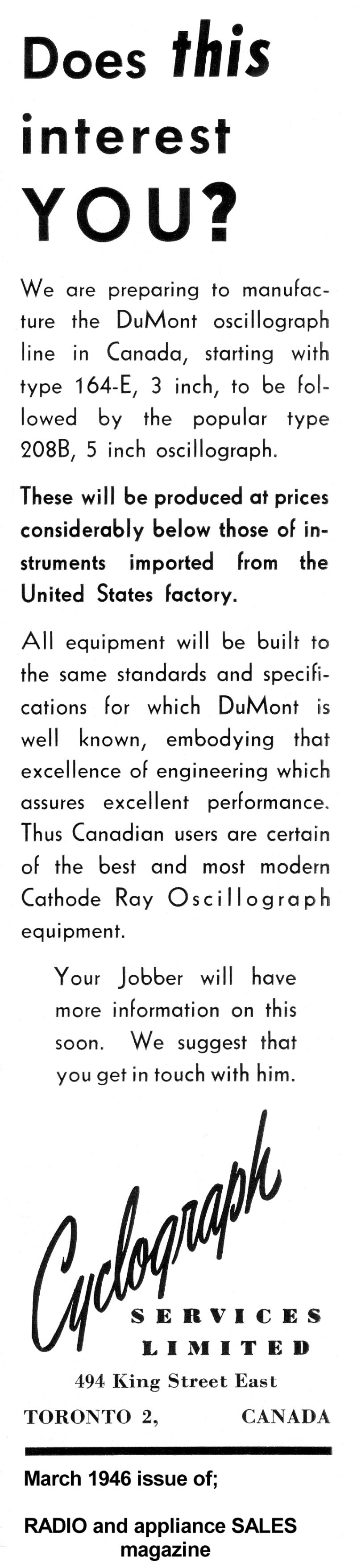 medium resolution of cyclograph introduction advertisement 1946