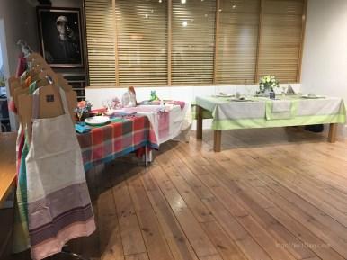 ガルニエ・ティエボー(Garnier Thiebaut)ABCクッキングスタジオイベント201705テーブルセッティング