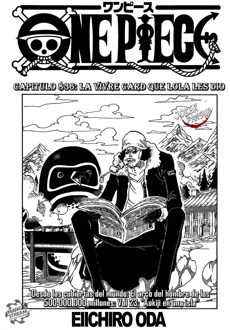 One Piece 836 Spoiler : piece, spoiler, Manga, Piece, Online, InManga