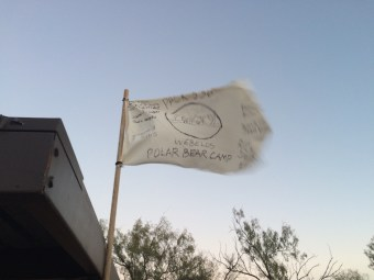 Our camp flag