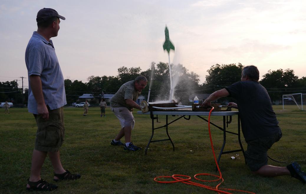 water bottle rocket launch
