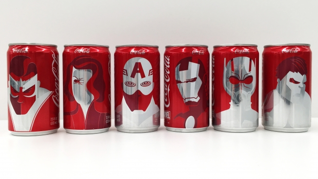 Coca Cola and Marvel Team Up in Custom Packaging for Super Bowl