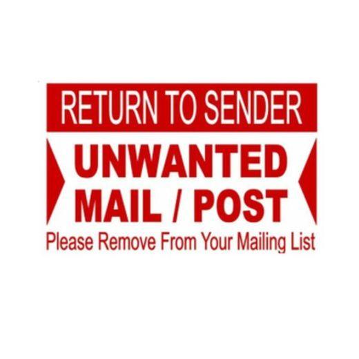 Junk Mail / Return To Sender Labels