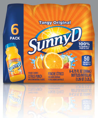 Sunny D Calories : sunny, calories, Sunny, Delight, Calories,, Label, Packagingdigest.com