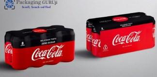 coca-cola european partners, CCEP, shrink film, single-use plastic, cardboard packaging