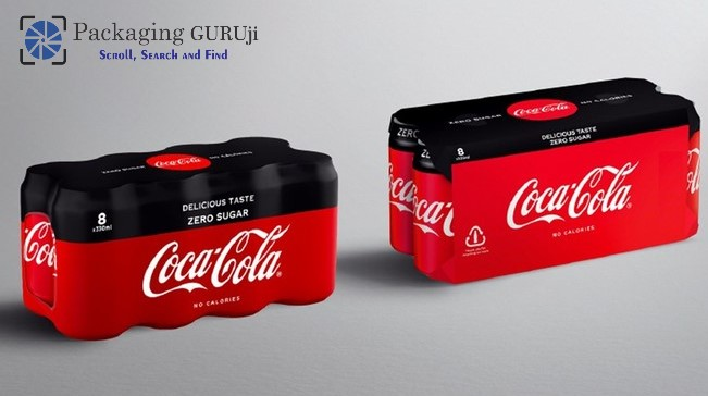 coca-cola european partners, CCEP, shrink film, single-use plastic, cardboard packaging