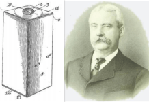 John Van Wormer, First Rectangular Milk Bottle, invention of Paper bottle,