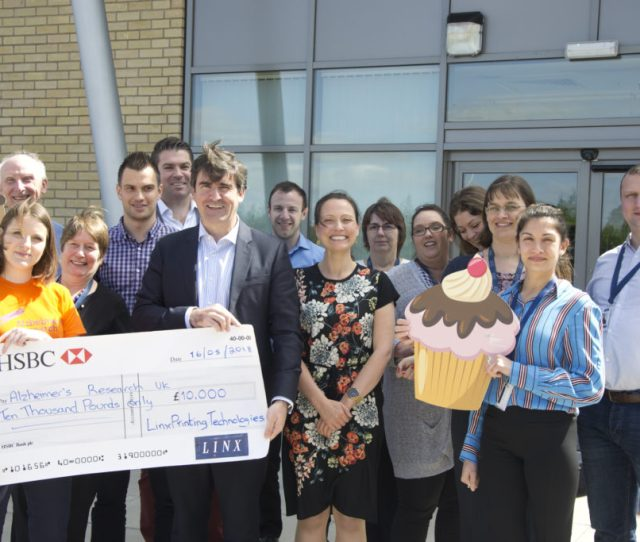 Linx Staff Raise  For Alzheimers Charity