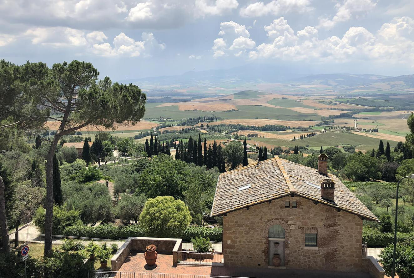 View from La Pienza Tuscan Village