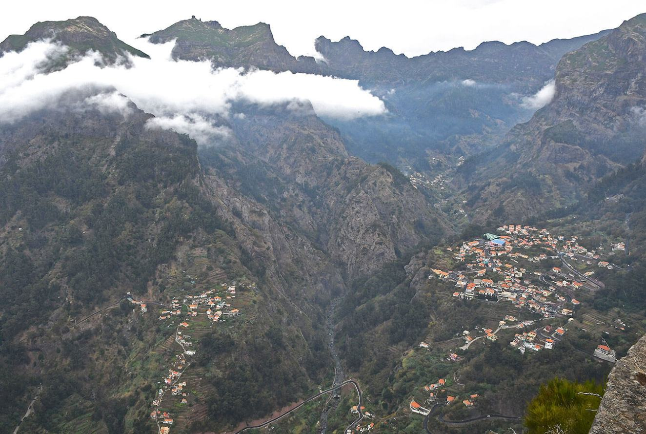 View at the Eira do Serrado viewpoint where the Curral das Freiras lies (Nuns Valley) - Madeira - Portugal