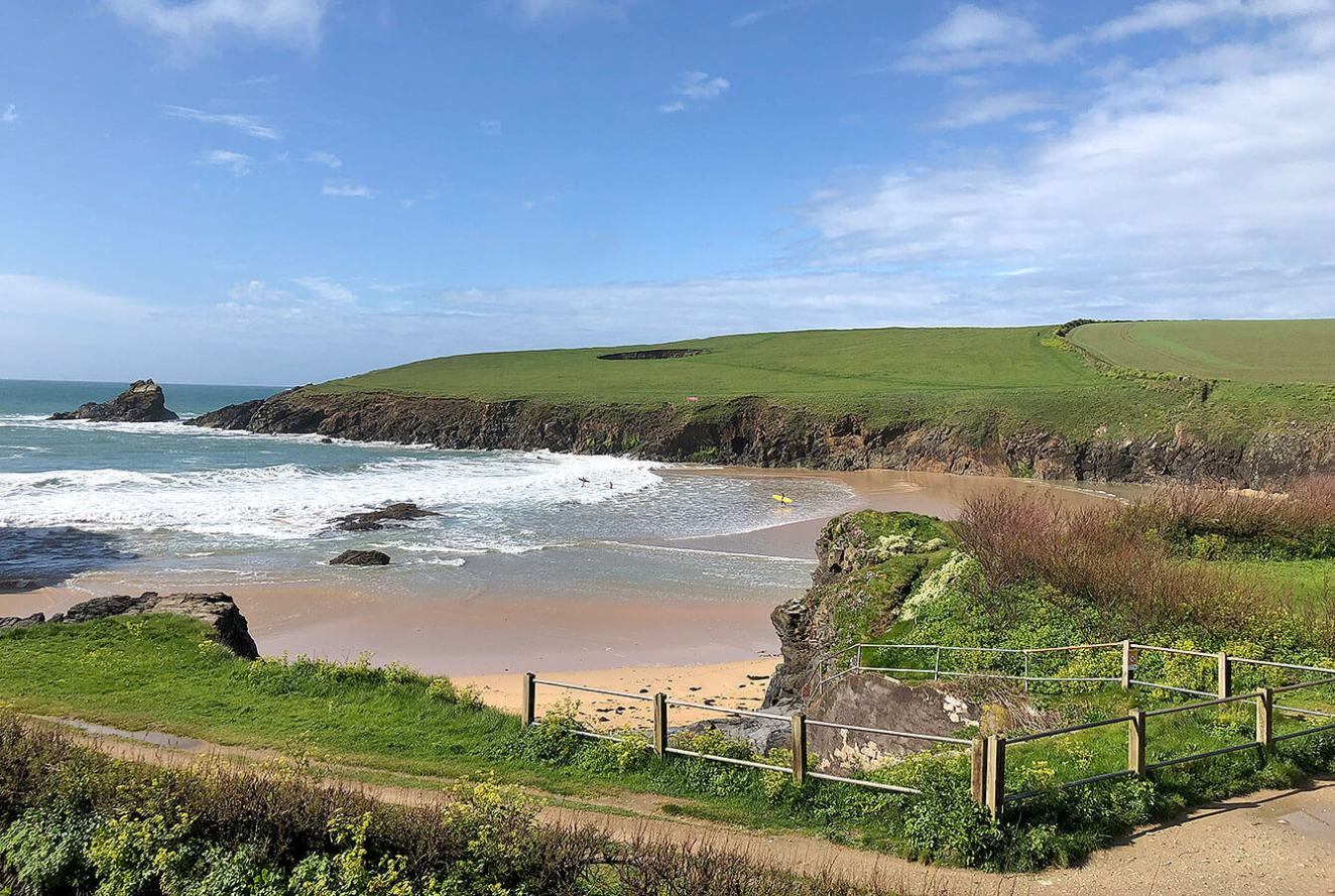 Trevone Bay, North Cornwall, England