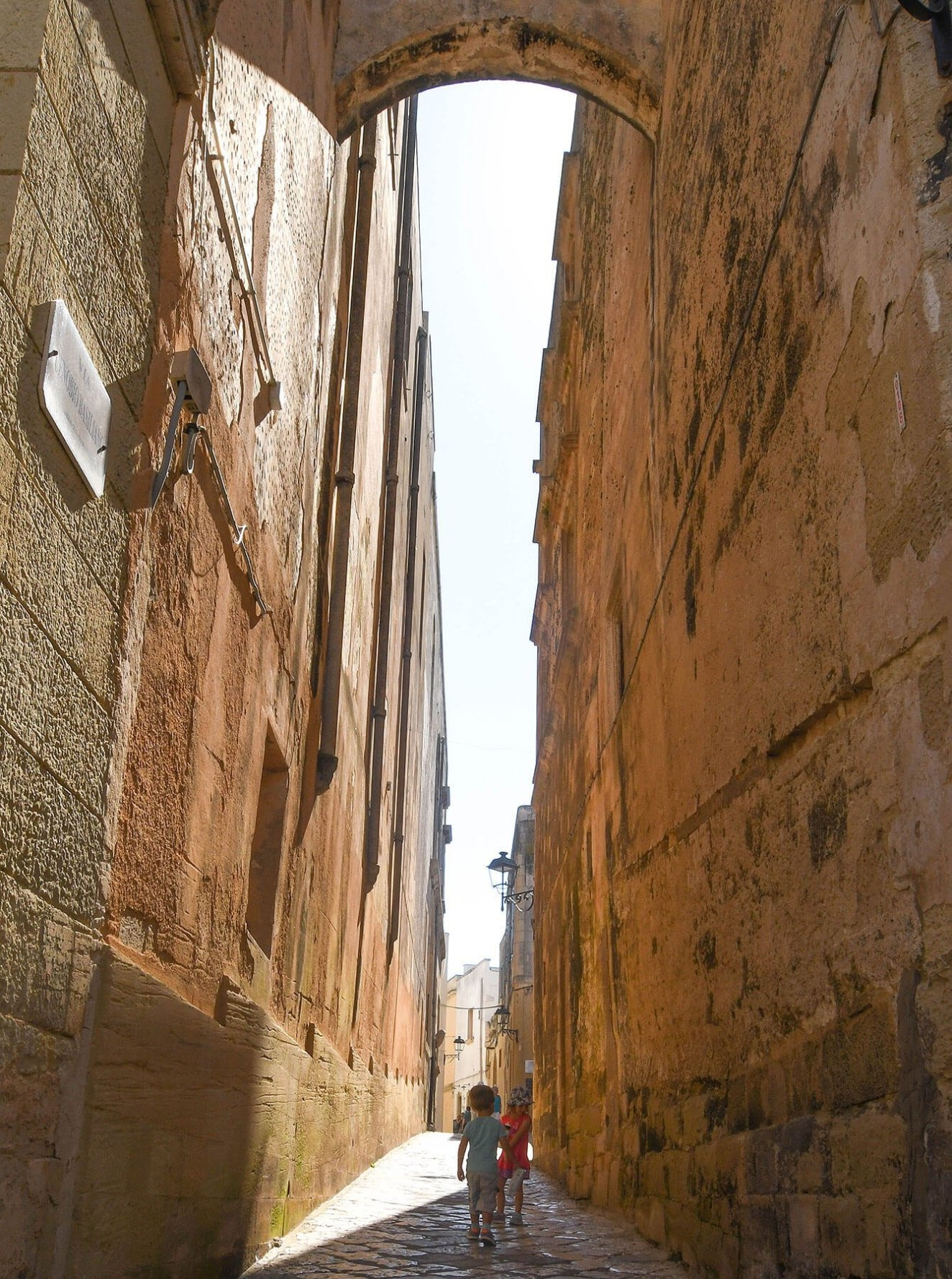 Narrowed Alley within Otranto's Old Town