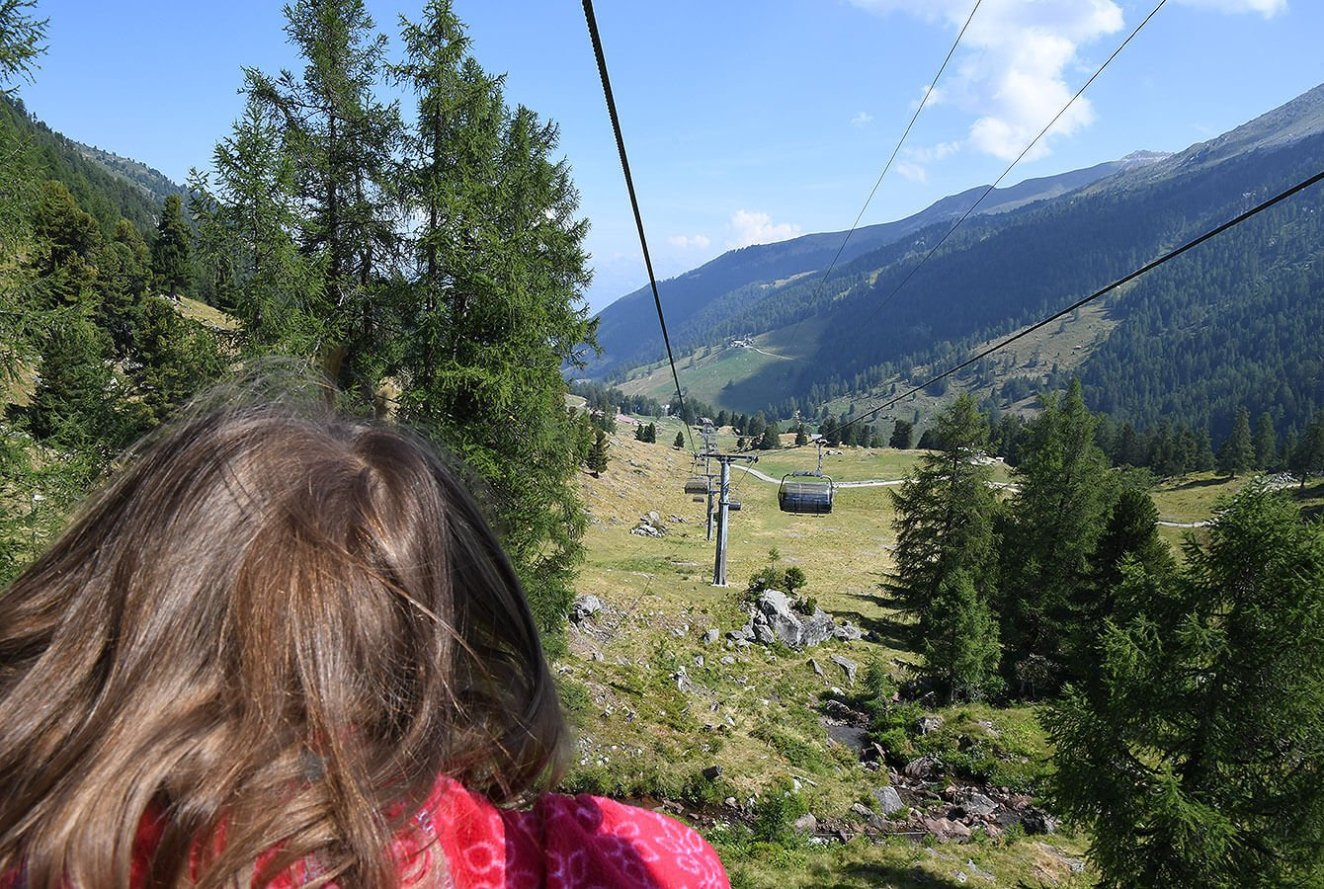 Back down to Siviez - This time on the Chairlift