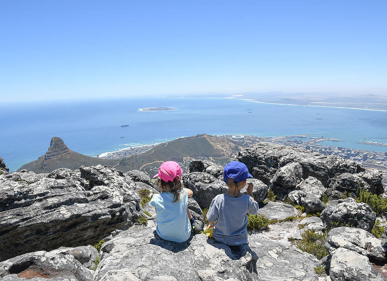 Amazing view from Table Mountain :: South Africa with kids