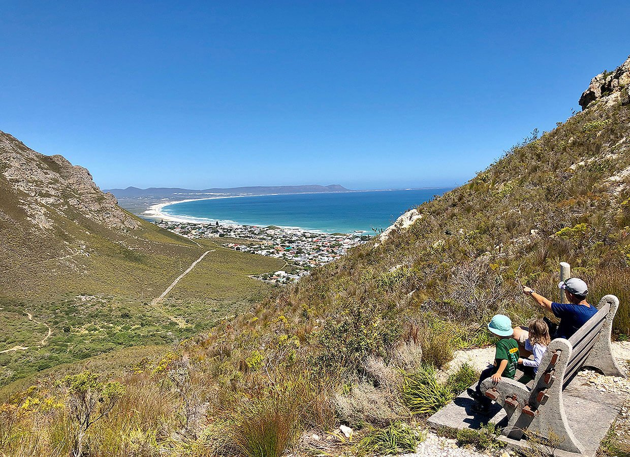 View from Fernkloof Park over Walkers Bay in South Africa