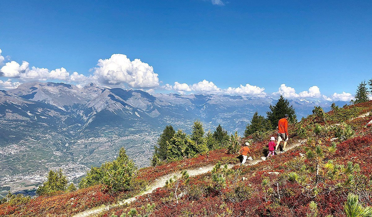Panorama Hike in Nendaz Valais Switzerland