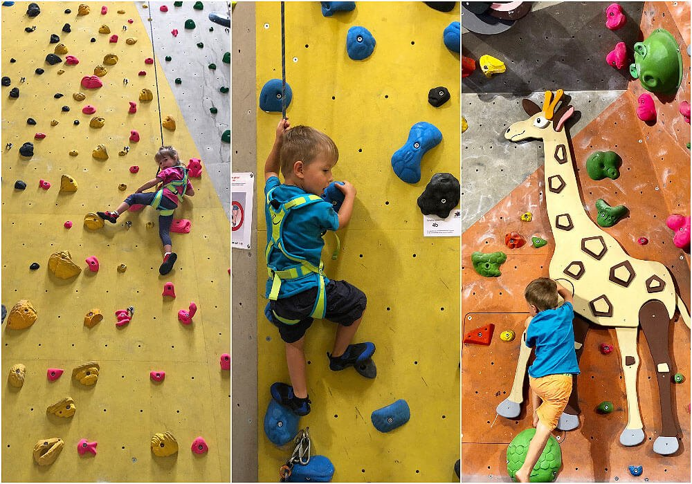 Climbing at Vertical Hall
