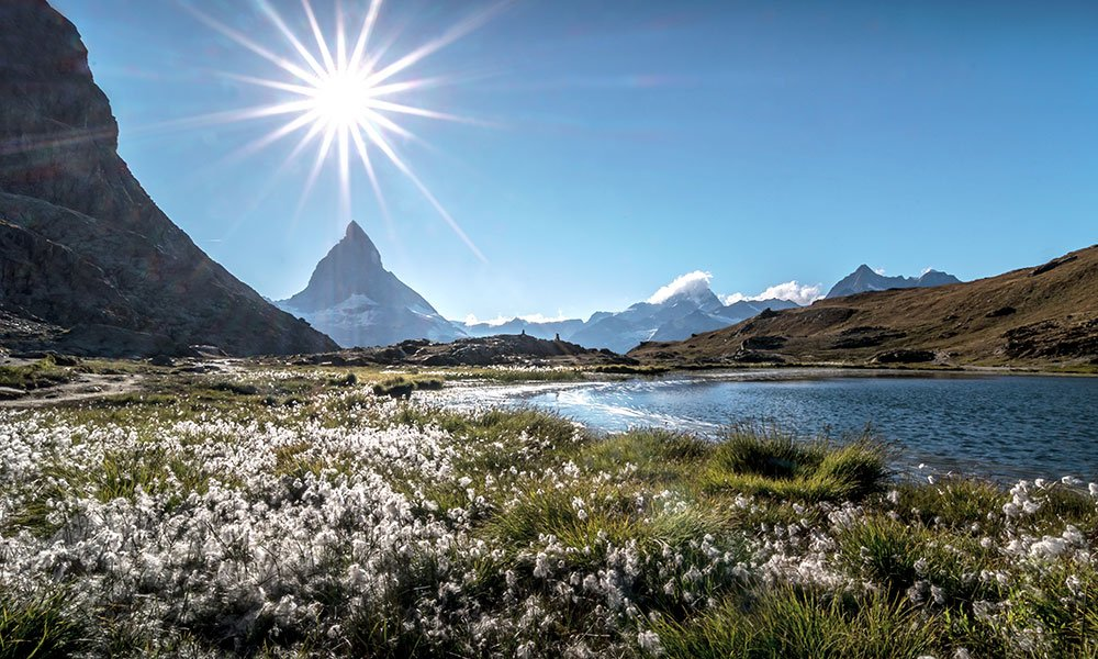 at the Riffelsee with the Matterhorn