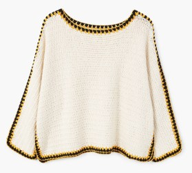 Trims crochet sweater
