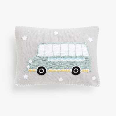 KIDS CROCHET BUS CUSHION COVER