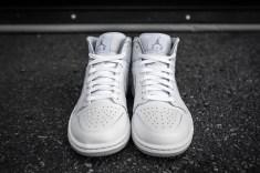 Air Jordan 1 Mid White-Wolf Grey-4