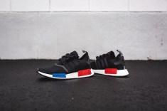 adidas Originals NMD Boost Black/Blue Red OG Runner Sneaker