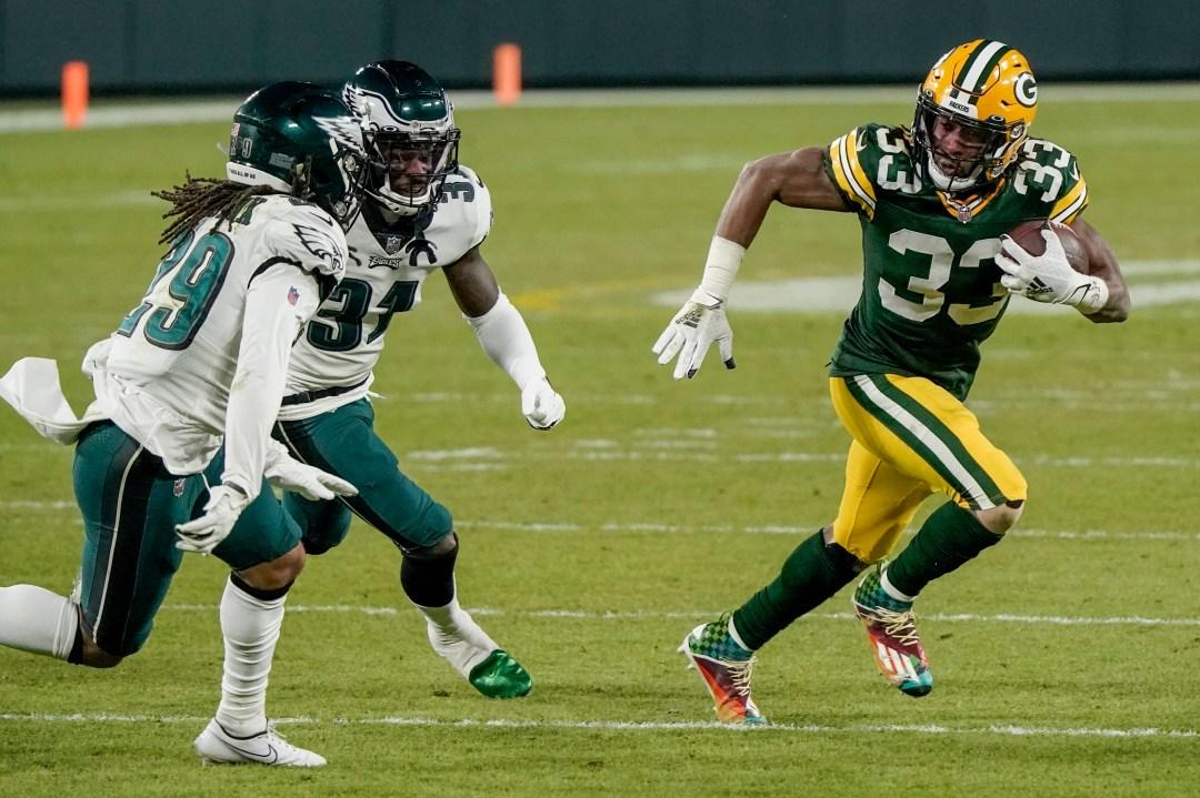 Packers: Aaron Jones named FedEx Ground Player of the Week for Week 13