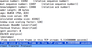 Troubleshooting with Wireshark – Finding Delays in TCP Conversations