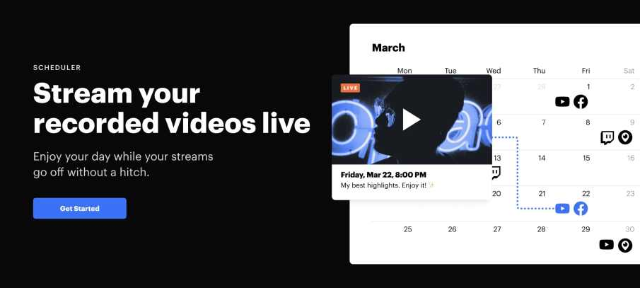 Stream your recorded videos live