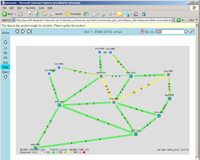 Cariden Mate Web Interface