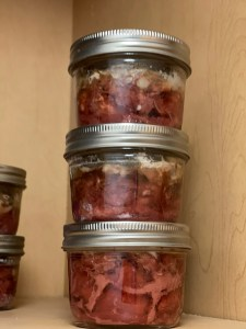 canned goat meat