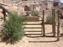 Gate into canyon