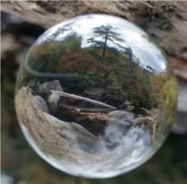 River scene in a bubble