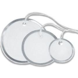 1 1/2″ Circle Metal Rim Tags – Pre-Strung (100/case) $14.27/piece