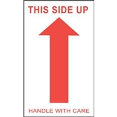 #DL1050 3×5″ This Side Up Handle with Care (Arrow) Label $13.91/piece