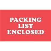 "#DL1110  2×3″  ""PACKING  LIST ENCLOSED"" Label $10.25/piece"