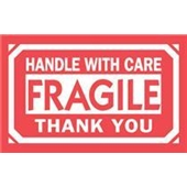 #DL1250  3×5″  Fragile Handle with Care Thank You Label $13.91/piece