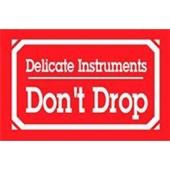 #DL1350  3×5″  Delicate Instruments Don`t Drop Label $14.88/piece
