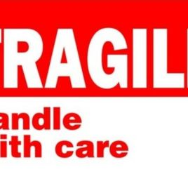 #DL1767  3×5″  Fragile Handle with Care Label $13.91/piece