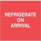 #DL1800  4×4″  Refrigerate On Arrival (Red/White) Label $13.91/piece