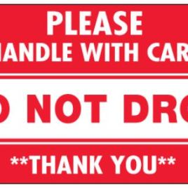 #DL1971  3×5″  Do Not Drop Please Handle with Care Label $13.91/piece