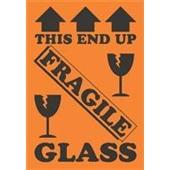 #DL1981  4×6″  This End Up Fragile Glass (Arrows/Broken Glass) Label $24.29/piece