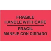 #DL3011  3×5″  Fragil Maneje Con Cuidado – Bilingual Label $13.91/piece