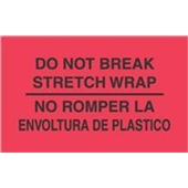 #DL3031  3×5″  No Rompar La Envoltura Plastico – Bilingual Label $13.91/piece