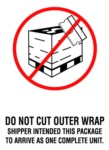 #DL3183  4×6″  Do Not Cut Outer Wrap (White/Red/Black) Label $24.29/piece