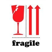 #DL4320  3×4″  Fragile (Broken Glass/Arrows) Label $13.57/piece