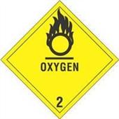 #DL5080  4×4″  Oxygen – Hazard Class 2 Label $14.88/piece