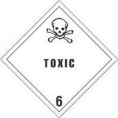 #DL5181  4×4″  Toxic – Hazard Class 6 Label $14.88/piece